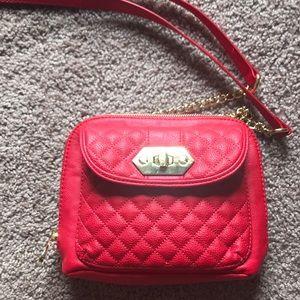 Red Steve Madden cross body purse